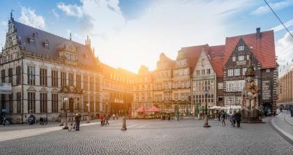 Bremen sonniger Marktplatz