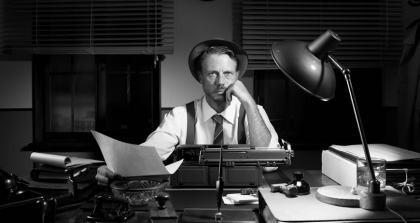 Ghostwriter am Schreibtisch